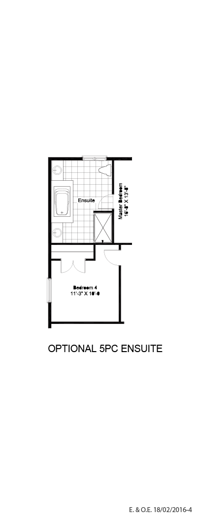Optional 5PC ensuite