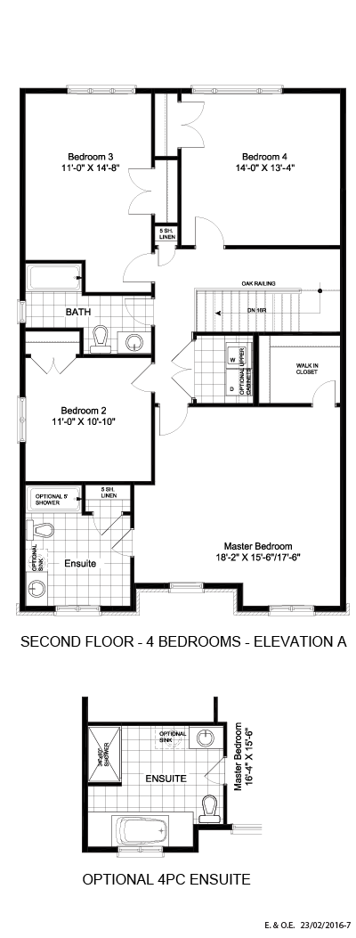 Second floor - 4 BD (Elevation A)