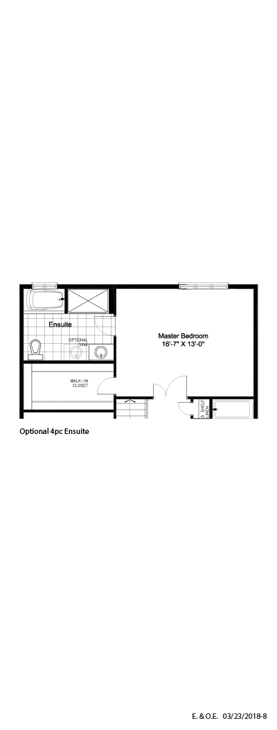Optional 4PC ensuite