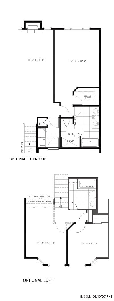Optional 5PC ensuite and loft