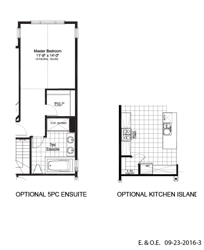 Optional 5PC ensuite and kitchen island