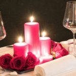 candlelit dinner decor