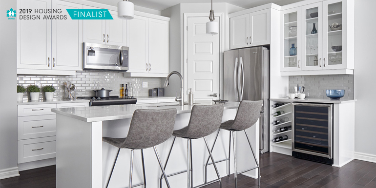 Kitchen of Ottawa bungalow up for an award.